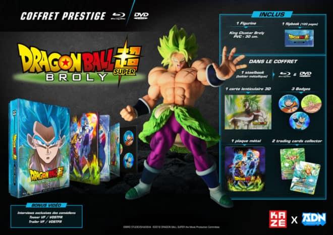 Un coffret prestige pour Dragon Ball Super Broly.
