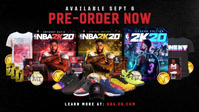 Les stars de NBA 2K20 seront Anthony Davis et Dwyane Wade.
