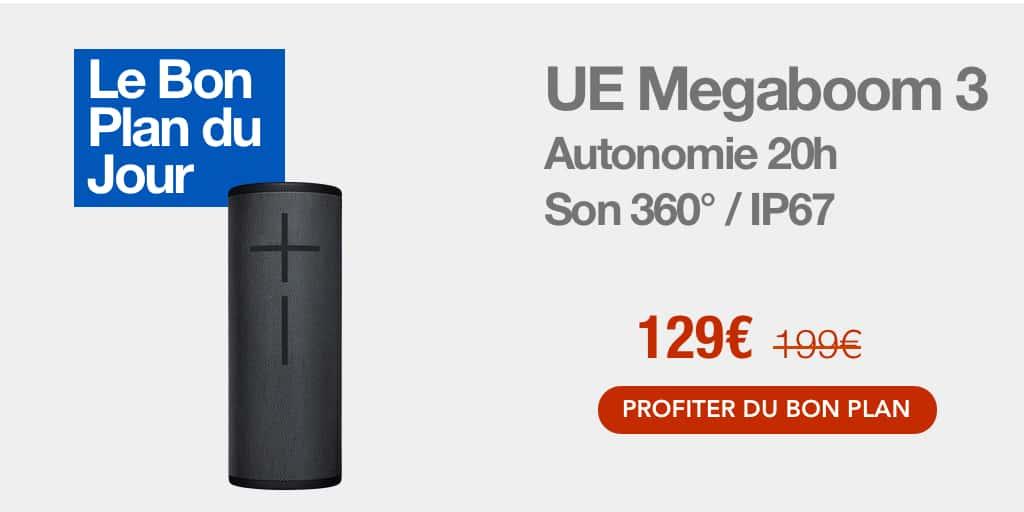 Bon plan : l'enceinte sans fil UE Megaboom 3 à 129€