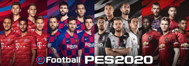 Konami dévoile la jaquette d'eFootball PES 2020.