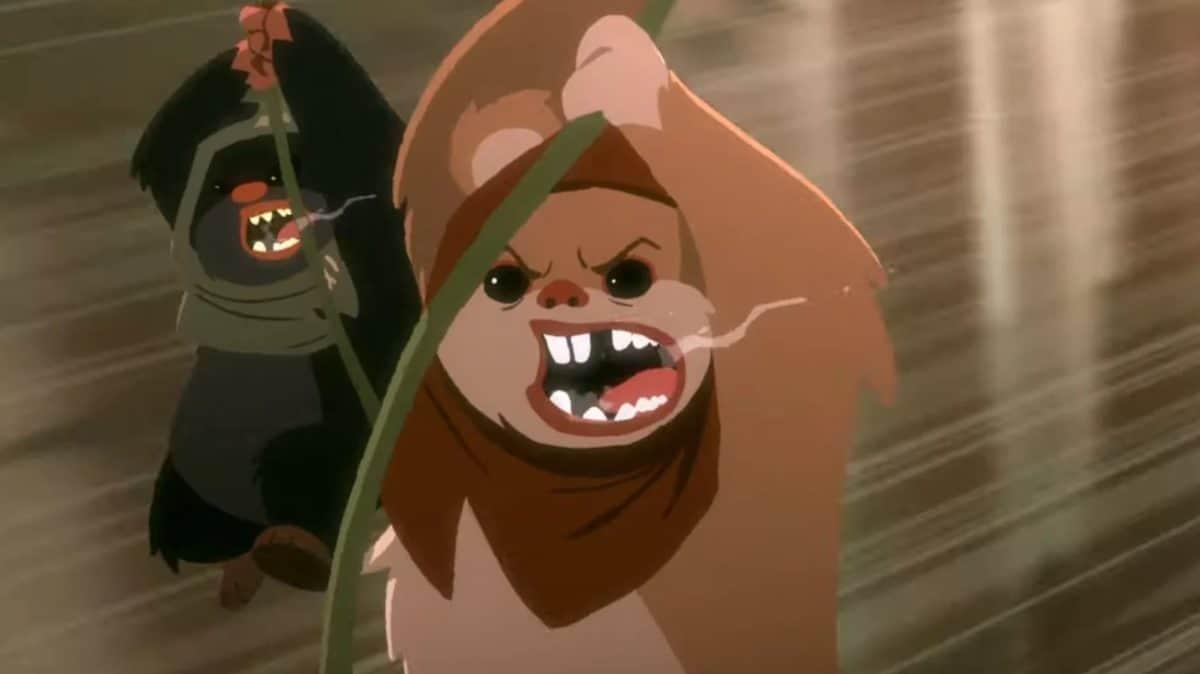 Les Ewoks sont assez effrayants dans le dernier court métrage animé Star Wars