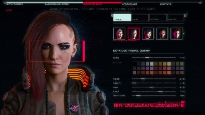 CD Projekt RED fait un point sur les nouveautés de l'éditeur de personnage de Cyberpunk 2077.