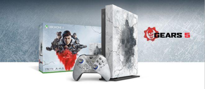 La Xbox One X Gears 5 Limited Edition se montre sous toutes ses coutures.