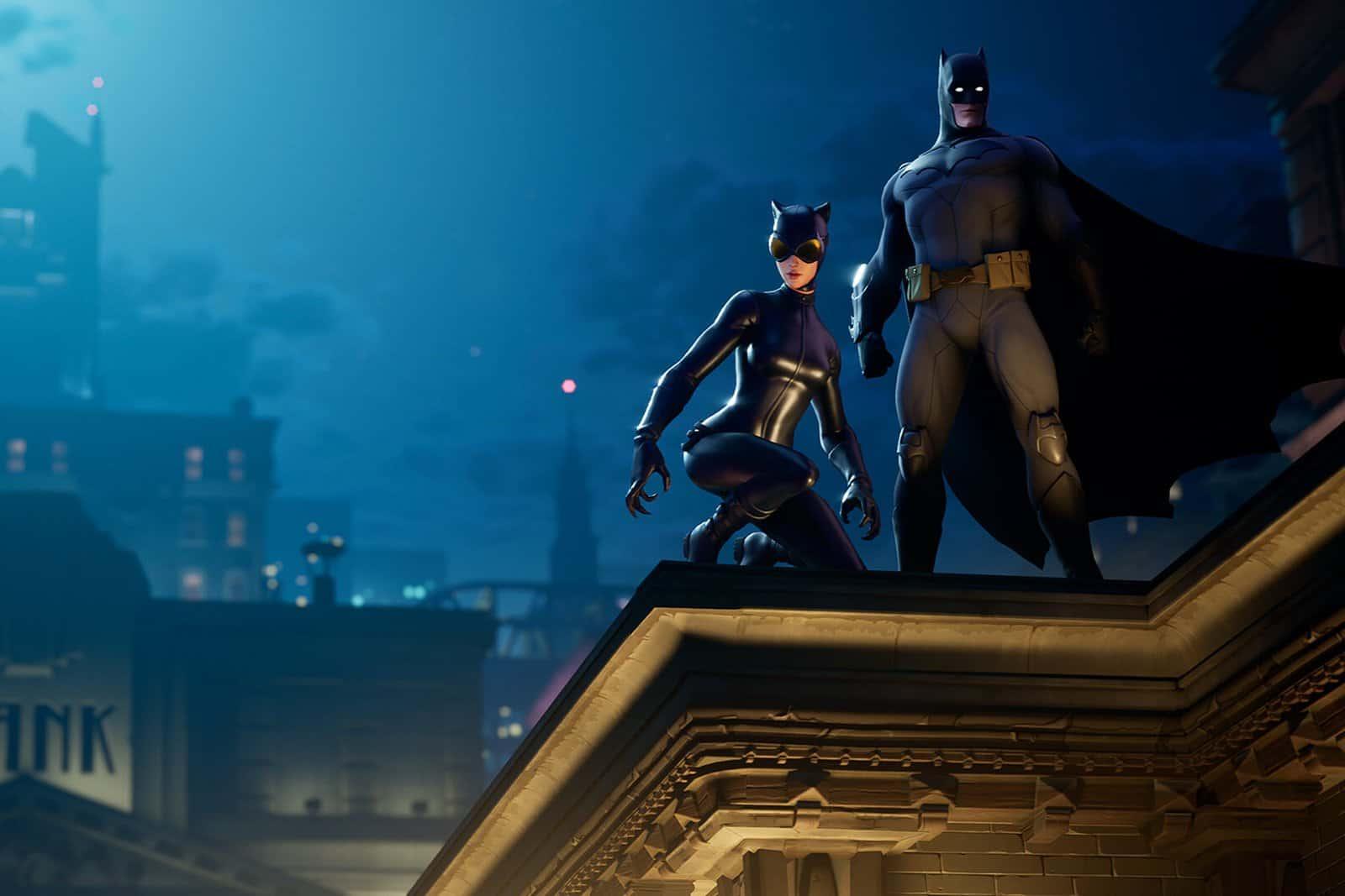 Batman arrive dans Fortnite et amène avec lui Catwoman et tout Gotham City