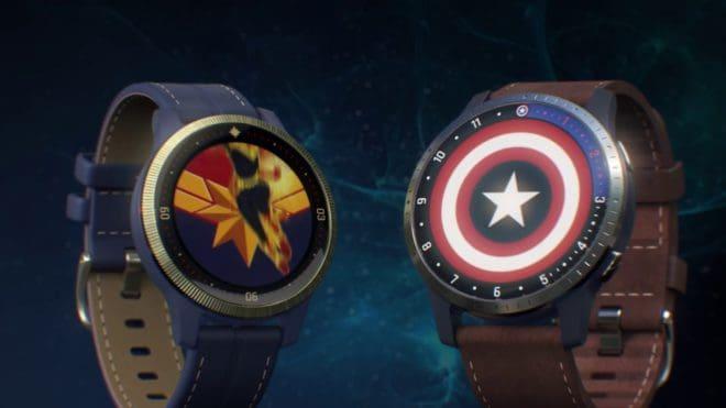 Garmin smartwatch Captain Marvel Captain America
