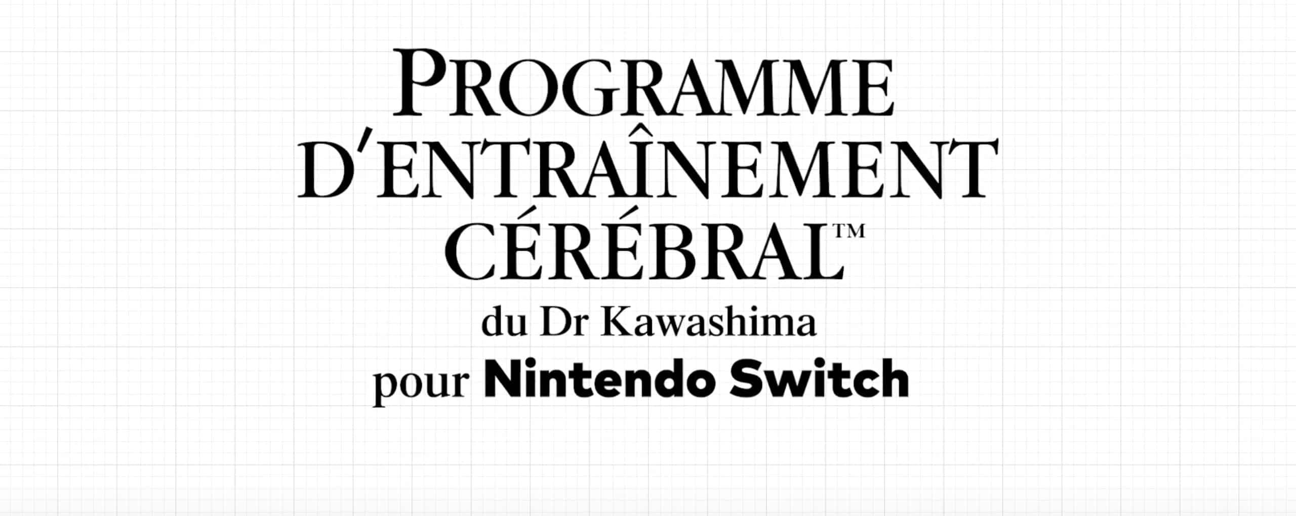 Nintendo va localiser le nouveau Dr Kawashima sur Switch