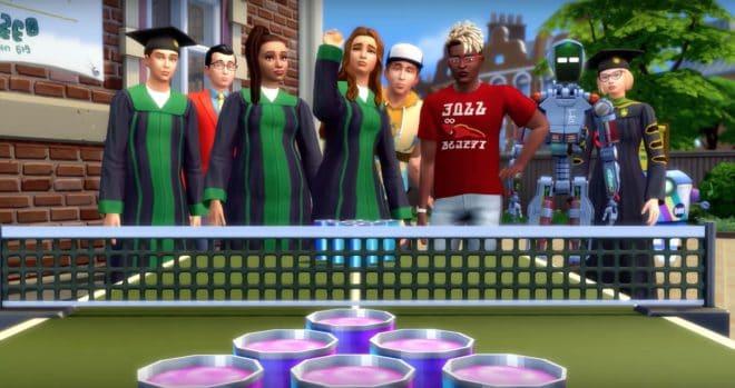 Les Sims 4 s'intéresse à la vie étudiante.