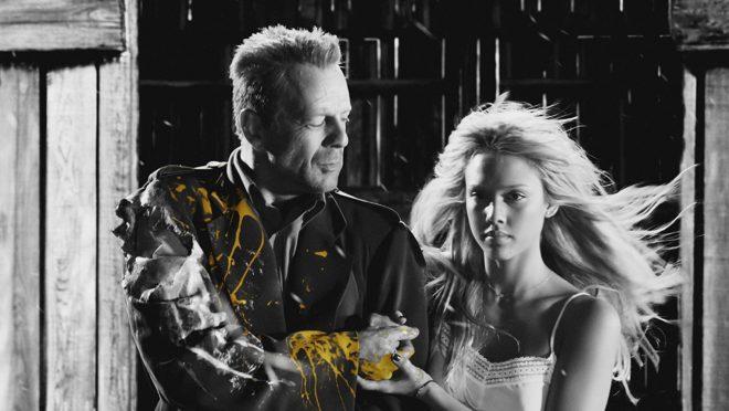 Bruce Willis et Jessica Alba dans Sin City