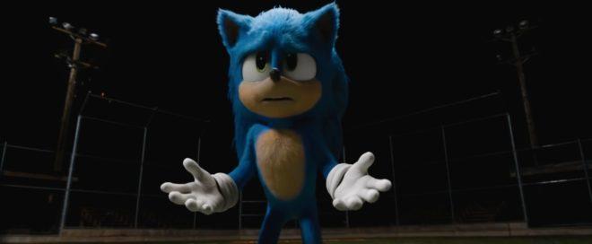 Le nouveau design de Sonic pour le film.