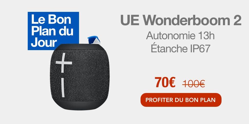 Bon plan : 30€ de réduction sur l'enceinte Bluetooth UE WonderBoom 2