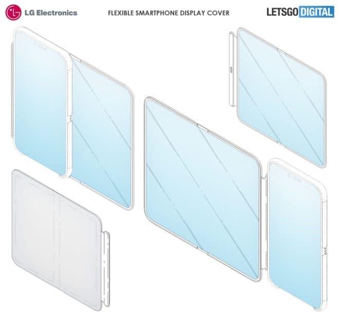 LG brevet smartphone écran secondaire pliable