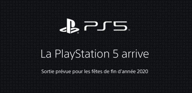 La PS5 est toujours prévue pour la fin d'année 2020.