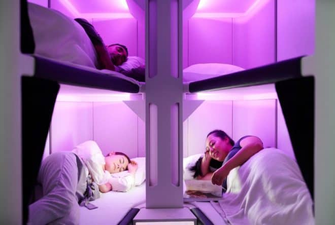 Air New Zealand lits superposés