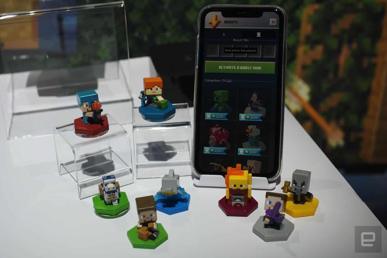 Minecraft Earth s'offre de jolies petites figurines NFC