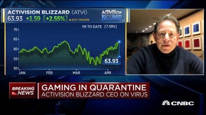 Malgré le coronavirus, Activision Blizzard n'est pas dans une mauvaise situation.