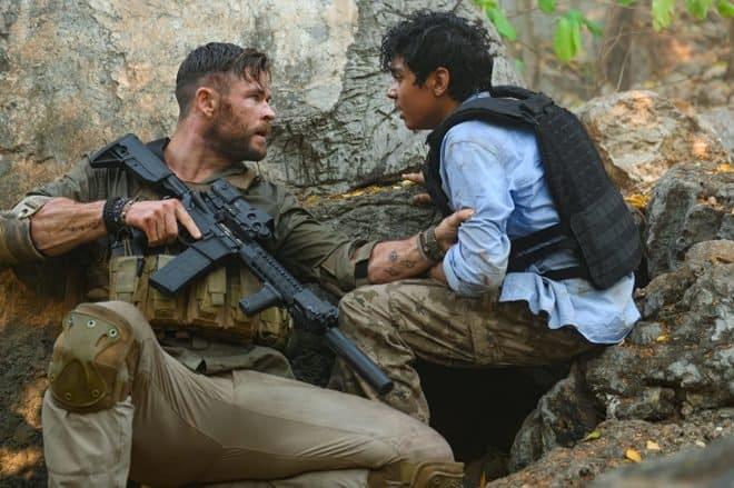 Chris Hemsworth et Rudhraksh Jaiswal