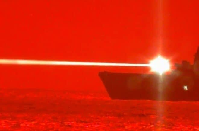 USS Portland canon laser