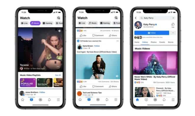Facebook Watch musique
