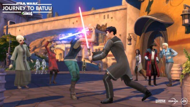 Star Wars s'invite dans Les Sims 4 avec le contenu téléchargeable Journey to Batuu.