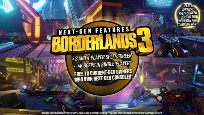 Borderlands 3 sera jouable sur les nouvelles consoles de Sony et Microsoft.