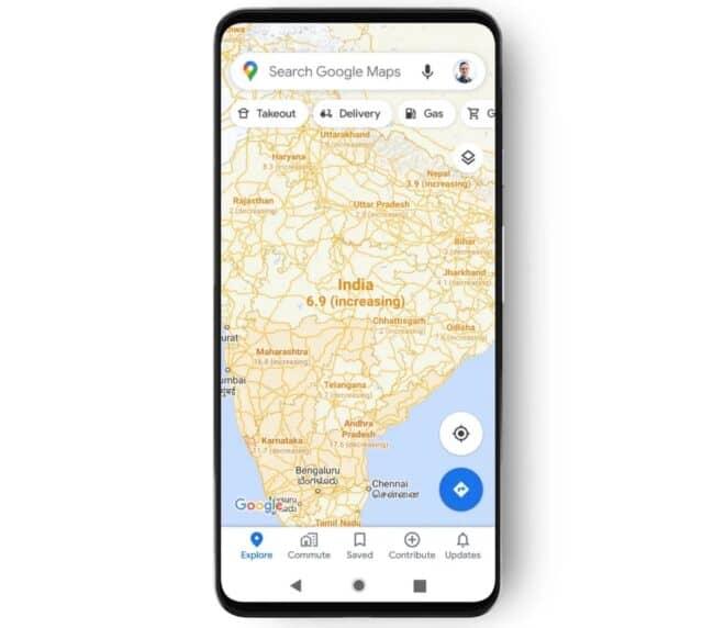 Google Maps Covid-19