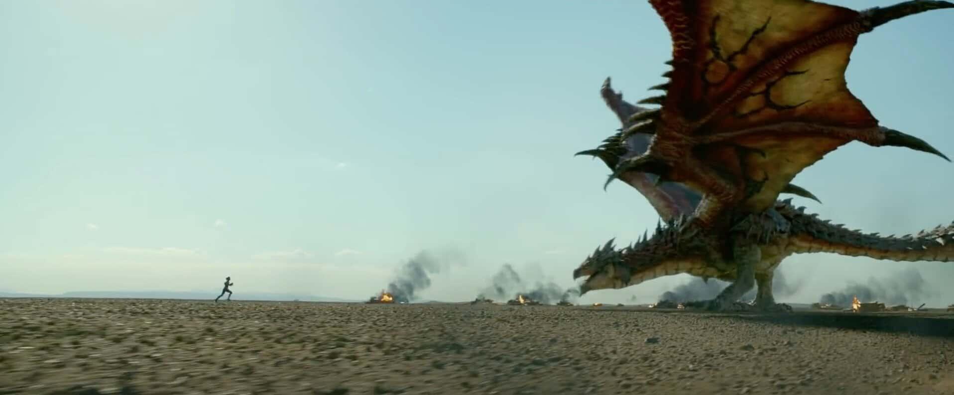 Monster Hunter : Milla Jovovich affronte un Rathalos dans la bande-annonce  du film