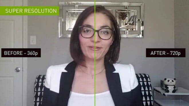 NVIDIA IA vidéoconférence