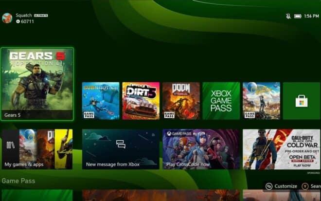 L'interface de la Xbox Series X se dévoile.