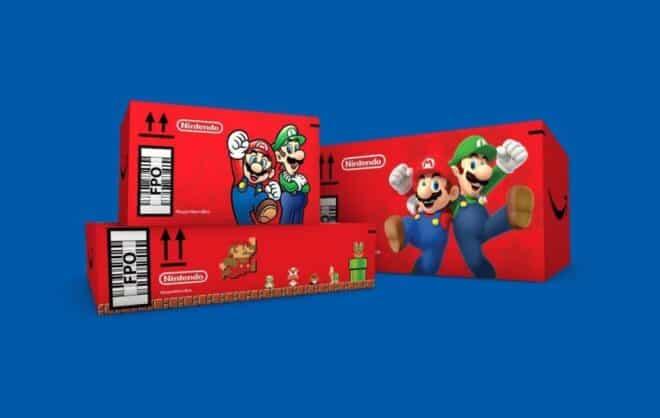 Amazon carton Mario