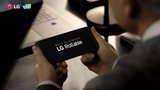 LG smartphone écran enroulable